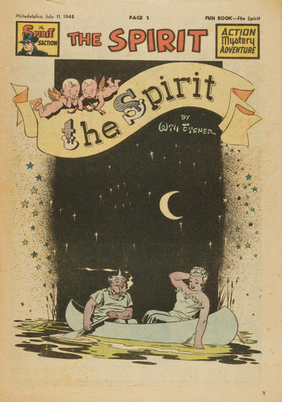Cover for The Spirit (Register and Tribune Syndicate, 1940 series) #7/11/1948