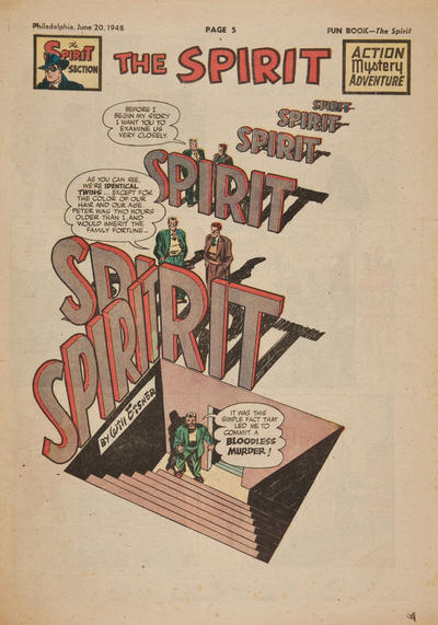 Cover for The Spirit (Register and Tribune Syndicate, 1940 series) #6/20/1948