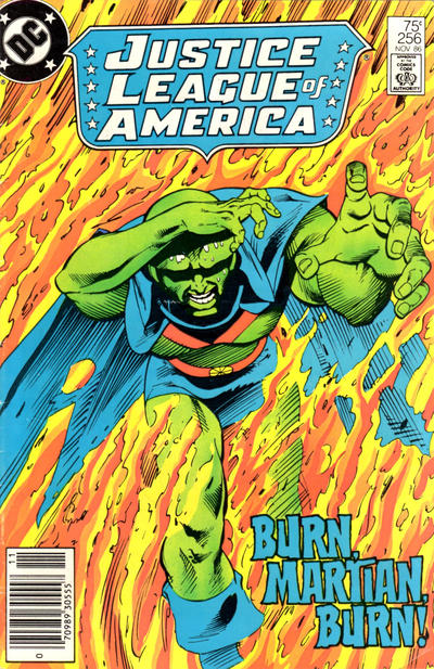 Cover for Justice League of America (DC, 1960 series) #256 [Newsstand Edition]