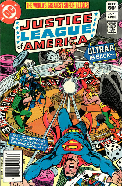 Cover for Justice League of America (DC, 1960 series) #201 [Newsstand Edition]