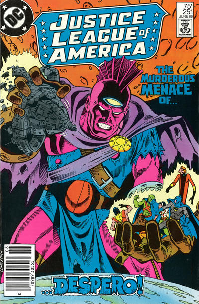 Cover for Justice League of America (DC, 1960 series) #251 [Newsstand Edition]