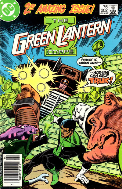 Cover for Green Lantern (DC, 1976 series) #202 [Newsstand]