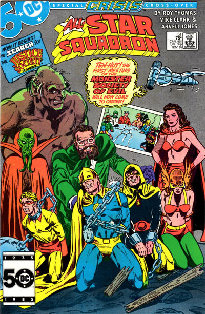 Cover for All-Star Squadron (DC, 1981 series) #51 [Direct Sales (Comic Book Stores)]