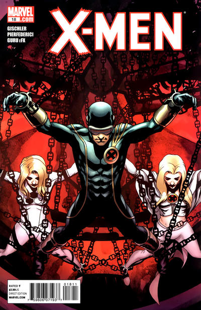 Cover for X-Men (Marvel, 2010 series) #18 [Direct Market Variant by Humberto Ramos]