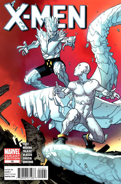 Cover for X-Men (Marvel, 2010 series) #15 [Direct Market Variant by Paco Medina]