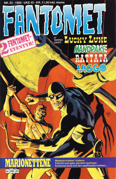 Cover for Fantomet (1976 series) #23/1989