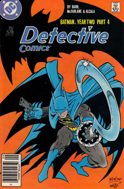 Cover for Detective Comics (DC, 1937 series) #578 [Newsstand Edition]
