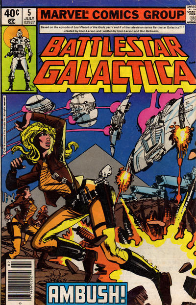 Cover for Battlestar Galactica (Marvel, 1979 series) #5 [Newsstand Edition]