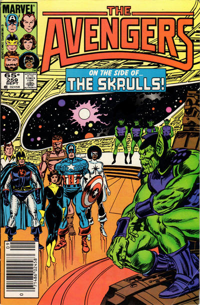 Cover for The Avengers (1963 series) #259