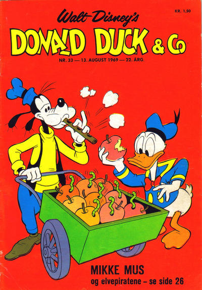 Cover for Donald Duck & Co (Hjemmet, 1948 series) #33/1969