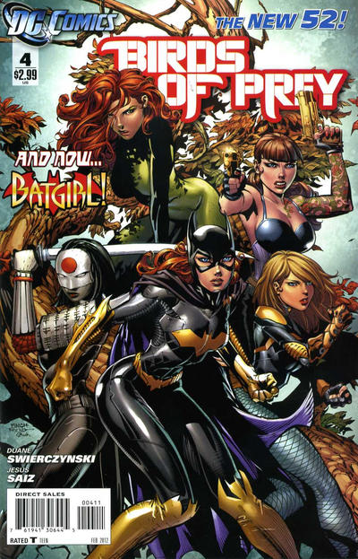 Cover for Birds of Prey (DC, 2011 series) #4
