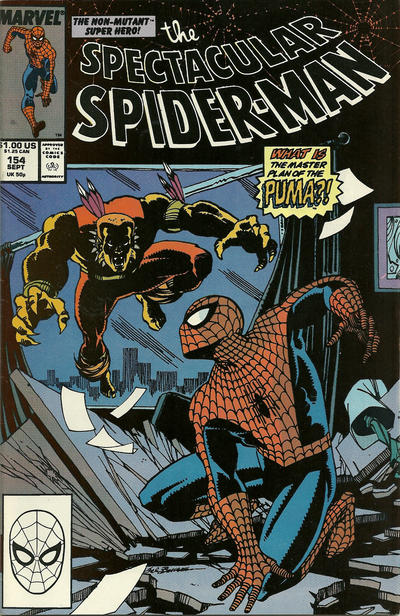 Cover for The Spectacular Spider-Man (Marvel, 1976 series) #154 [direct]