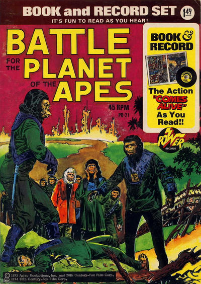 Cover for Battle for the Planet of the Apes [Book and Record Set] (Peter Pan, 1974 series) #PR21
