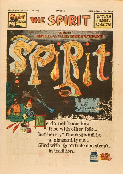 Cover for The Spirit (Register and Tribune Syndicate, 1940 series) #11/20/1949