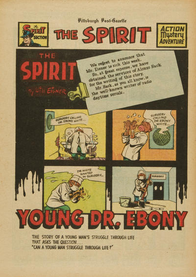 Cover for The Spirit (Register and Tribune Syndicate, 1940 series) #5/29/1949