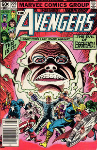 Cover Thumbnail for The Avengers (Marvel, 1963 series) #229 [Newsstand Edition]