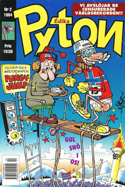 Cover for Pyton (Atlantic Förlags AB, 1990 series) #2/1994