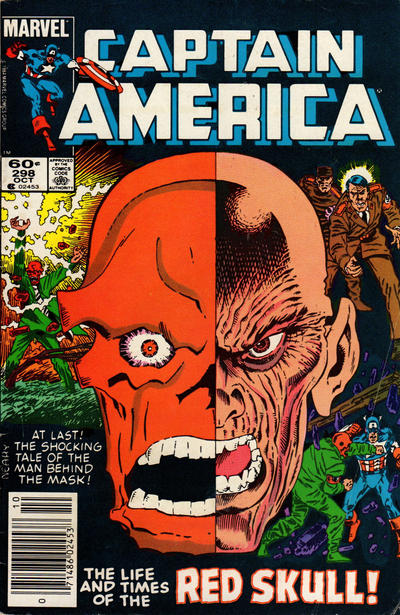 Cover for Captain America (Marvel, 1968 series) #298 [Direct Edition]