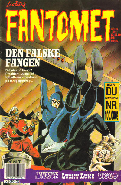 Cover for Fantomet (Semic, 1976 series) #25/1991