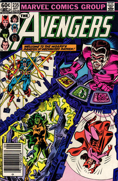 Cover for The Avengers (1963 series) #235 [Newsstand Edition]