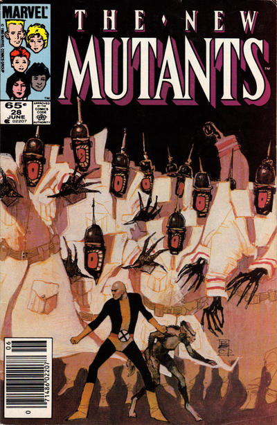 Cover for The New Mutants (Marvel, 1983 series) #28 [Direct Edition]
