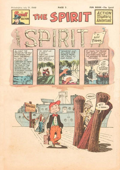 Cover for The Spirit (Register and Tribune Syndicate, 1940 series) #7/31/1949