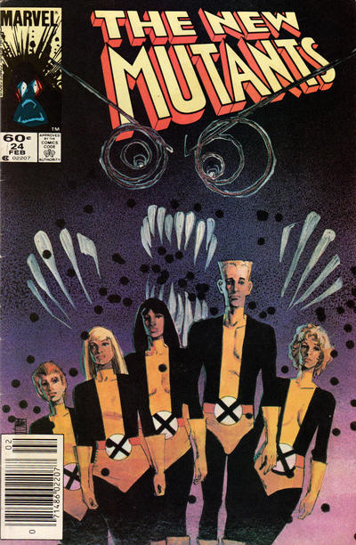 Cover for The New Mutants (Marvel, 1983 series) #24