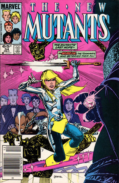 Cover for The New Mutants (Marvel, 1983 series) #34 [Newsstand Edition]
