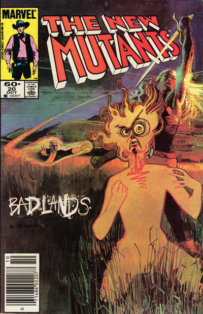 Cover for The New Mutants (Marvel, 1983 series) #20 [Direct Edition]