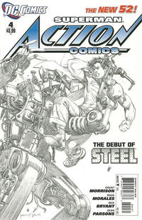 Cover Thumbnail for Action Comics (DC, 2011 series) #4 [1:200 Incentive Cover Edition]