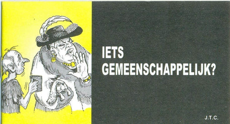 Cover for Iets gemeenschappelijk? (Chick Publications, 2006 series)