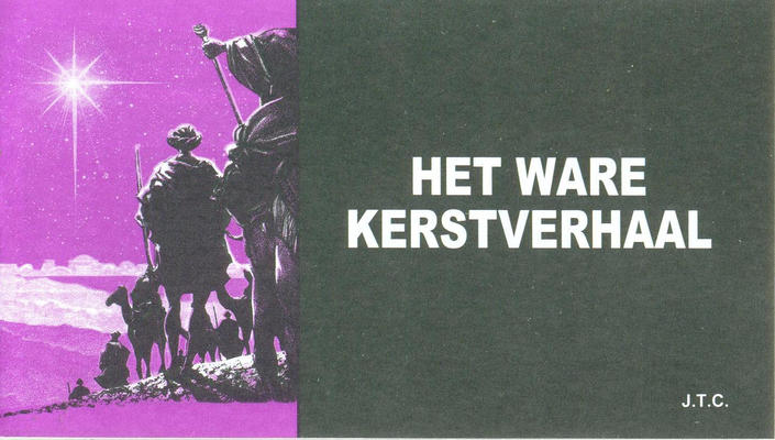 Cover for Het ware Kerstverhaal (Chick Publications, 2010 series)