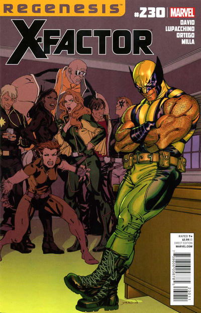 Cover for X-Factor (Marvel, 2006 series) #230 [Nick Bradshaw Regenesis Gold Variant Cover]