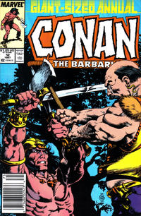 Cover Thumbnail for Conan Annual (Marvel, 1973 series) #12 [Newsstand Edition]