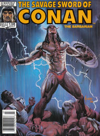 Cover Thumbnail for The Savage Sword of Conan (Marvel, 1974 series) #138 [Newsstand Edition]