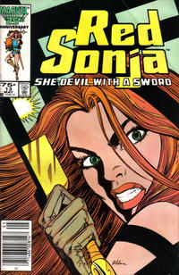 Cover Thumbnail for Red Sonja (Marvel, 1983 series) #13 [Newsstand Edition]