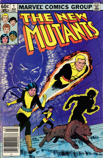 Cover for The New Mutants (Marvel, 1983 series) #1 [Newsstand Edition]