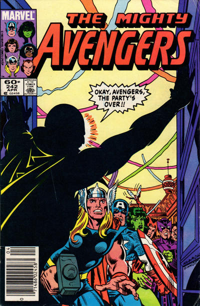 Cover for The Avengers (Marvel, 1963 series) #242 [Direct Edition]
