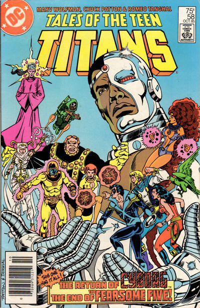 Cover for Tales of the Teen Titans (1984 series) #58