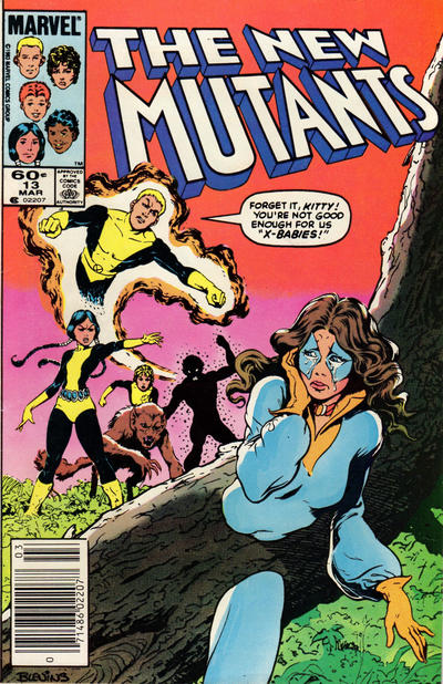 Cover for The New Mutants (Marvel, 1983 series) #13 [Newsstand Edition]