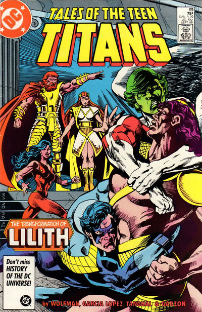 Cover for Tales of the Teen Titans (DC, 1984 series) #69 [Direct]
