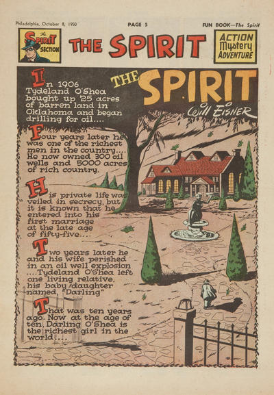 Cover for The Spirit (Register and Tribune Syndicate, 1940 series) #10/8/1950