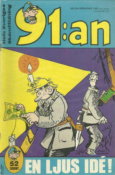 Cover for 91:an [delas] (Åhlén & Åkerlunds, 1956 series) #24/70