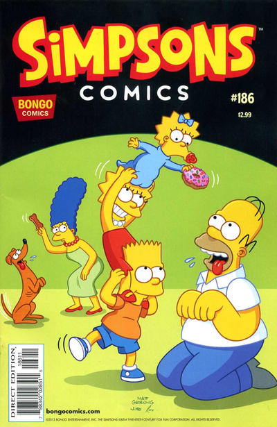 Cover for Simpsons Comics (Bongo, 1993 series) #186