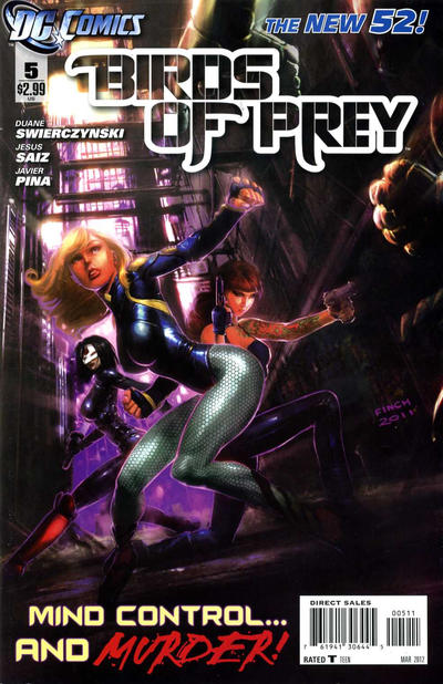 Cover for Birds of Prey (DC, 2011 series) #5