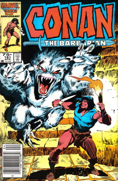 Cover for Conan the Barbarian (Marvel, 1970 series) #181 [Direct Edition]