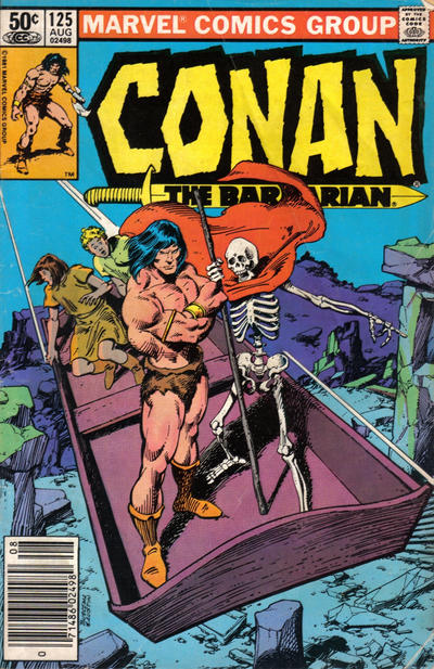 Cover for Conan the Barbarian (1970 series) #125 [Newsstand Edition]