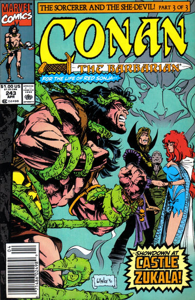 Cover for Conan the Barbarian (Marvel, 1970 series) #243 [Direct Edition]