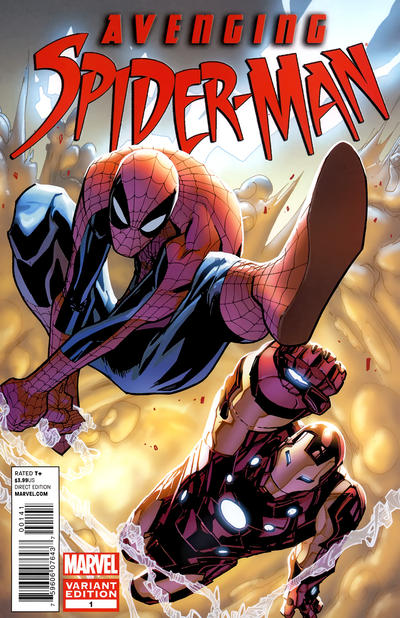 Cover for Avenging Spider-Man (Marvel, 2012 series) #1 [Direct Market Wraparound Sketch Variant Cover by Joe Quesada]