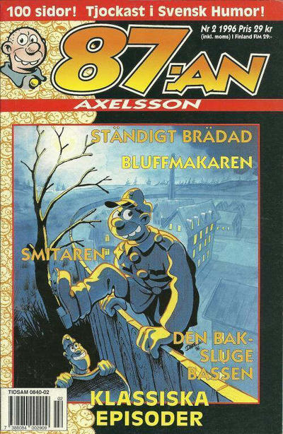 Cover for 87:an Axelsson (Semic, 1994 series) #2/1996